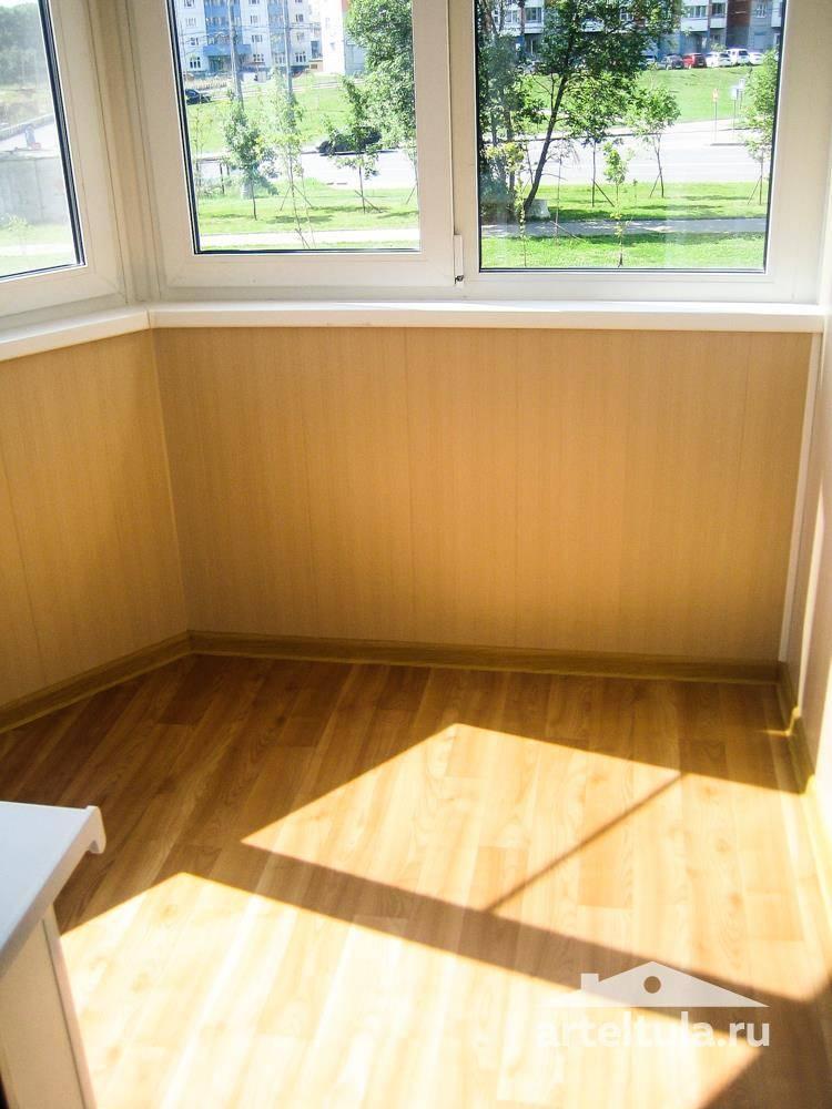 Качественная отделка балконов и лоджий деревянной вагонкой п.